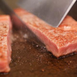 【鉄板焼き】A5ランクの平取和牛