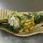 魚介料理 海 - アボカドとカボチャのサラダ