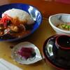 フラワーホテル - 料理写真:麻婆茄子丼(\500税込み)