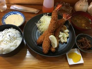 かつ藤 - エビフライ定食  1200円