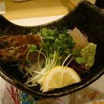 瀬戸内料理 くにさだ - 2010年10月再訪 クルマエビの刺身