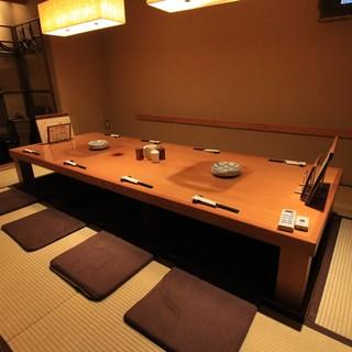 旅館風の完全個室