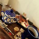 Hashigo Cafe - 木苺ケーキとホットコーヒー