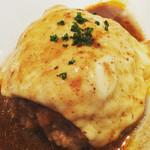 53160771 - 肉汁ー♡スプーンで食べるハンバーグ初めて!