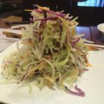 53162840 - セロリと紫キャベツのサラダ
