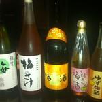越中鮮魚居酒屋 かざくら - 豊富な梅酒達