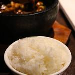 陳家私菜 赤坂一号店 湧の台所 - 白飯