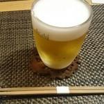 蕎麦瑠 呑楽人 - 生ビール(500円)♪