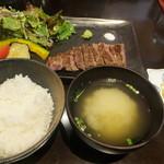 Teppanyamansai - 熟成肉ステーキセット