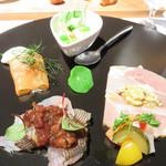オーセンティック リビング ブッチャー エヌワイシー 福岡警固 - 前菜。