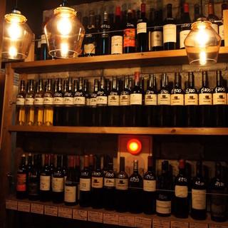 ワイン倉庫からお気に入りのワインを選ぶ