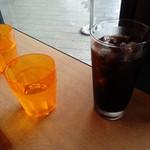 Makkusuburenachokoretoba - アイスコーヒー\450とお水