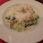 アブラッチオ - 「中札内鶏と野菜のリゾットパルミシャー」