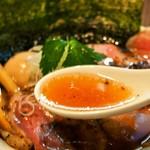 燃えよ麺助 - 特製紀州鴨そば(スープ)