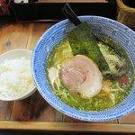 担々麺屋 炎 - 白醤油+小ライス201607.05