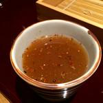 蕎麦あさ田 - そば湯イン七味