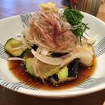 蕎麦あさ田 - 揚げナス