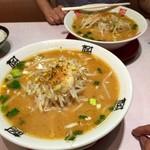 おおぎやラーメン - 料理写真:H28.06.20 みそラーメン(大盛)&(並)