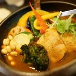 53174411 - 豚角煮と野菜