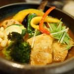 53174426 - 豚角煮と野菜