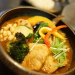 53174429 - 豚角煮と野菜