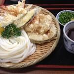 手打ちうどん源内 高松店 - 天ざるうどん