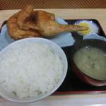 たつみ - ジャンボとり定食1200円