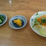 中華そばてんしん - サービスのサラダ