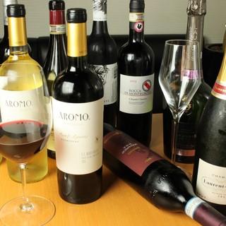 世界のワインを揃えています