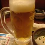 かみ風船 - 生ビール 中 これが2杯付きます