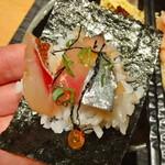 53191204 - 手巻き寿司風にて