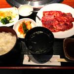 翠苑 - ハラミ定食    ¥1200