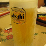 プリンス インドレストラン - 絶旨の生ビール