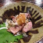 居酒屋 新 - 和牛たたき  これ、美味しい!