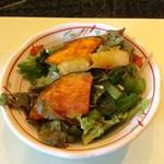 食房エスト - 温野菜も入ったサラダ