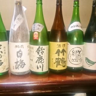 日本酒にもこだわり