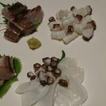 笑庵 - 料理写真:いさき炙りとタコ刺身