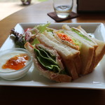ティーハウス スパロウズ - スパロウズのサンドイッチセット