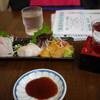 市場食堂 - 料理写真:貝盛り合わせ&かんぱち刺し&吉乃川~☆