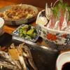 川新 - 料理写真:鯵のお刺身とずりの唐揚げ