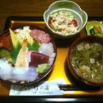 竹の浦 飛翔閣 - 蕎麦とチラシ