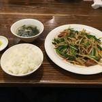 53225776 - ニラレバ定食