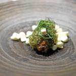 フロリレージュ - ヘテロ 牡蠣とおかひじき、フリーズしたレモンのメレンゲ