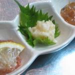 くうのま - 珍味三種盛り