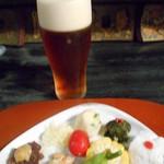 粥茶屋 写楽 - 2016.7:ビール(琥珀)とお通し