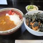 鳥仁 - ミニ鳥丼&ミニカレーセット(アップ)