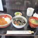 鳥仁 - ミニ鳥丼&ミニカレーセット