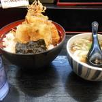 うどんづくしめん次郎 - 天丼 定食でうどんつき¥600