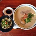 長崎らーめん 西海製麺所 - 満足セット(+餃子3個)