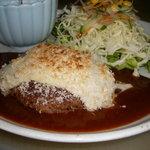 嵯峨野 - 料理写真:カリッ・トロ~のチーズハンバーグ